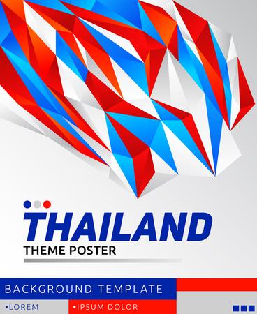 Thailand theme modern poster, vector template illustration, thai flag colors 写真素材 - 114367002