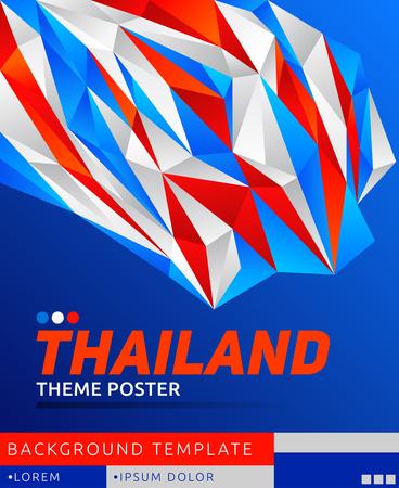 Thailand theme modern poster, vector template illustration, thai flag colors 写真素材 - 114367017