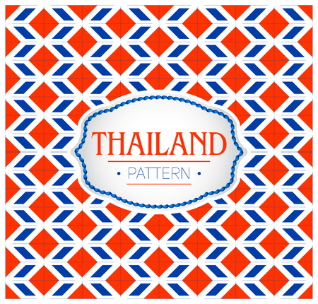 Thailand pattern, Background texture and Emblem with the colors of the Flag of Thailand