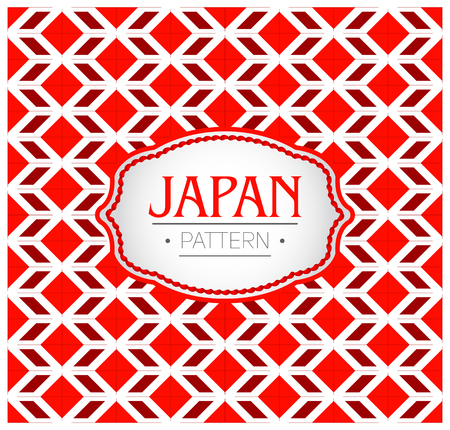 Japan Pattern, Background Texture and emblem with the colors of the flag of Japan