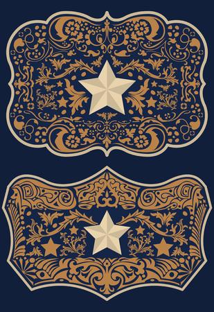 Vintage Label Western Style vector design Illustration