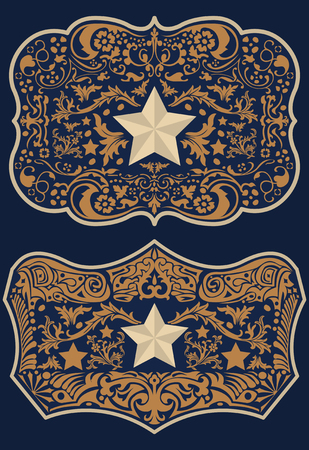 Vintage Label Western Style vector design