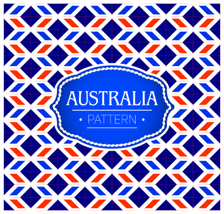 Australia Pattern, Background Texture and emblem with the colors of the flag of Australia 向量圖像