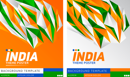 India Theme modern Poster, vector template illustration, Indian flag colors