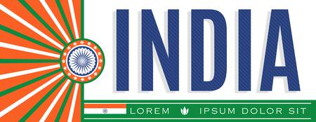 India Patriotic Banner design, typographic vector illustration, Indian Flag colors
