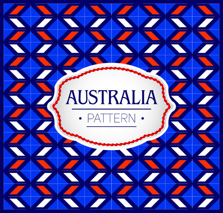 Australia Pattern, Background Texture and emblem with the colors of the flag of Australia Иллюстрация