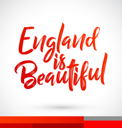 England is Beautiful Vector Lettering illustration