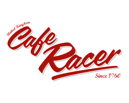 Cafe Racer Vector Lettering Illustration