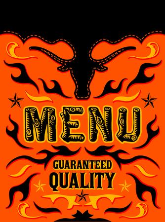 Menu Guaranteed Quality Grill Restaurant vector design