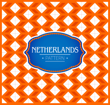 Netherlands Pattern, Seamless Background texture and emblem with the colors of the flag of Netherlands