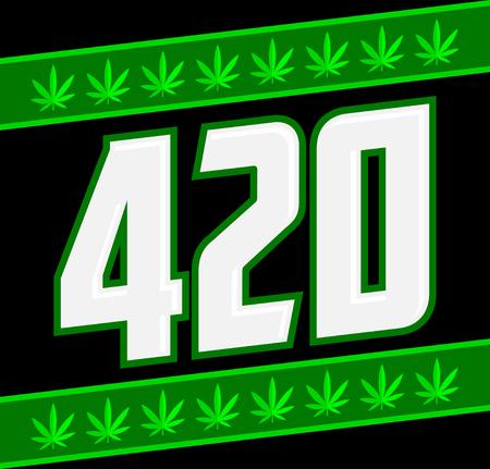 420 Marijuana symbol, Cannabis theme vector illustration