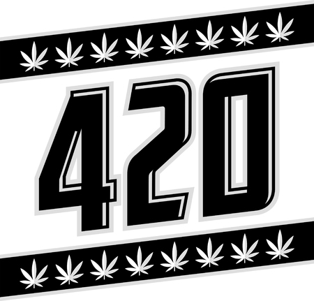 420 Marijuana symbol, Cannabis theme vector illustration