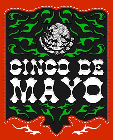 Cinco de Mayo, design with Mexican Patriotic emblem