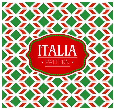Italia Pattern, Seamless Background texture and emblem with the colors of the flag of Italy