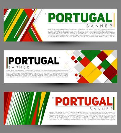 Portugal Modern Banner Template. vector Set design