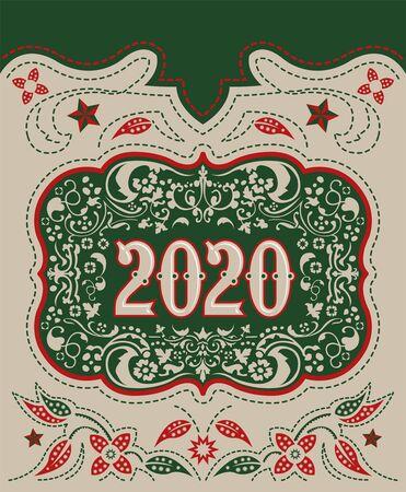Diseño de hebilla de cinturón de vaquero 2020, fondo decorativo de insignia occidental