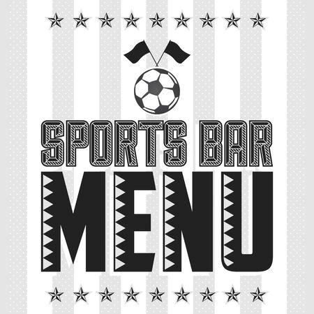 Sports Bar Menu Cover Design template, Soccer theme restaurant 向量圖像
