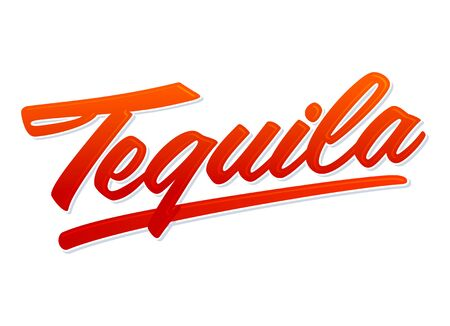 Tequila Vector Lettering Mexican drink icon, text emblem. 版權商用圖片 - 128924703
