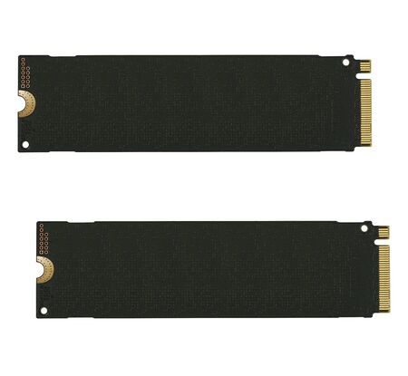 NVME M2 SSD Solid State Disk for data storage at high speed closeup on white isolated background 版權商用圖片 - 128924677