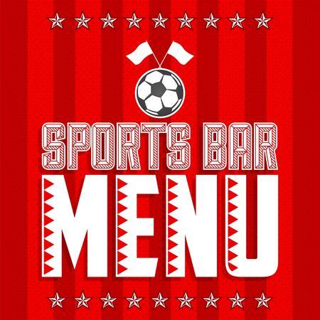 Sports Bar Menu Cover Design template, Soccer themed restaurant 版權商用圖片 - 128924685