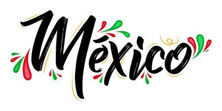 Mexico Patriotic Banner design Mexican flag colors vector illustration 版權商用圖片 - 128924597