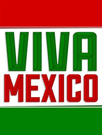 Viva Mexico Bold Header vector Message illustration. 向量圖像