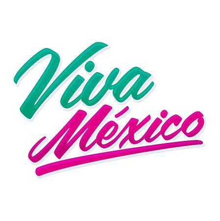 Viva Mexico Expression mexicaine traditionnelle mexicaine. Vecteurs