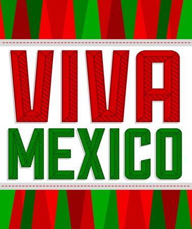 Viva Mexico Bold Header vector Message illustration. 版權商用圖片 - 128924553