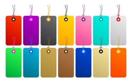 Color Label vector set Master Collection 版權商用圖片 - 128924555