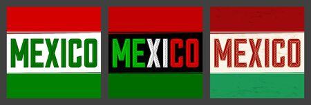Mexico Bold Header vector illustration set collection. Иллюстрация