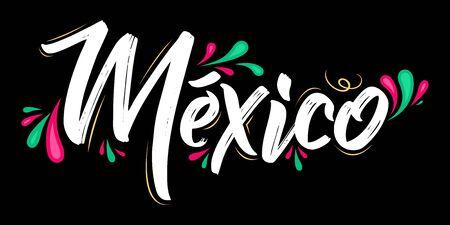 Mexico Patriotic Banner design Mexican flag colors vector illustration 向量圖像