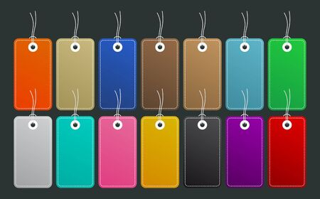 Color Label vector set Master Collection