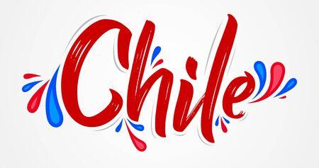 Chile Patriotic Banner design Chilean flag colors vector illustration