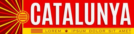 Catalunya, Catalonia Catalan text Banner design, typographic vector illustration