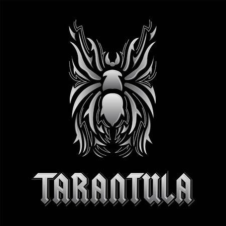 Tarantula Spider vector illustration and lettering design. Illustration