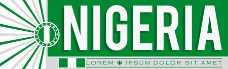 Nigeria Banner design, typographic vector illustration, Nigerian Flag colors Stok Fotoğraf - 130685626
