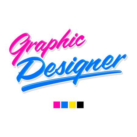 Graphic Designer vector lettering professional career emblem