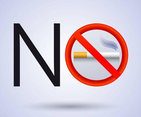No Smoking vector sign illustration.  イラスト・ベクター素材