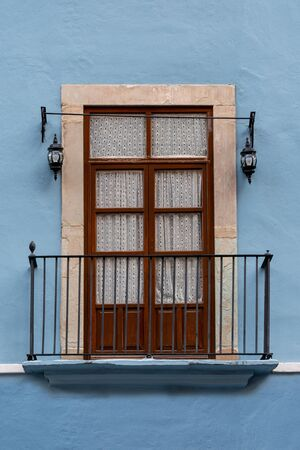 Mexican Classic Colonial Style Window Balcony in Guanajato Mexico.