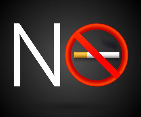 No Smoking vector sign illustration. Ilustrace