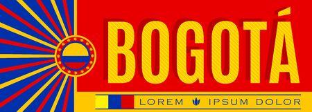 Bogota Colombia City Patriotic banner vector illustration.