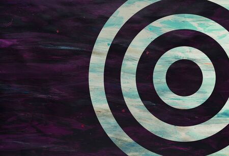 Purple Color Paint Strokes on Canvas Surface with concentric circles. 版權商用圖片
