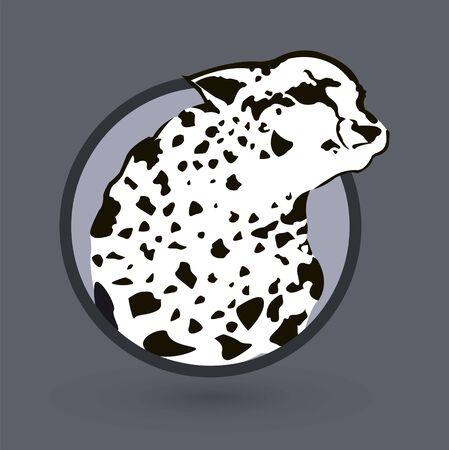 Cheetah Emblem Stylized vector illustration.