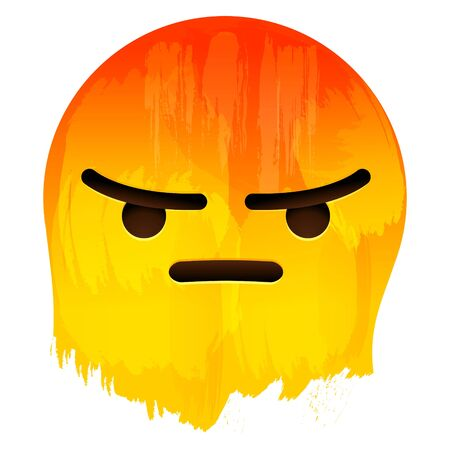 Angry Emotion Face on paint background vector illustration
