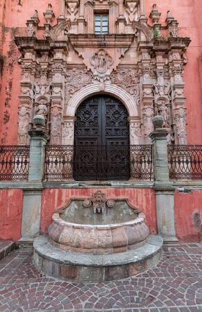 Mexican Colonial Traditional Church in Guanajuato Mexico.