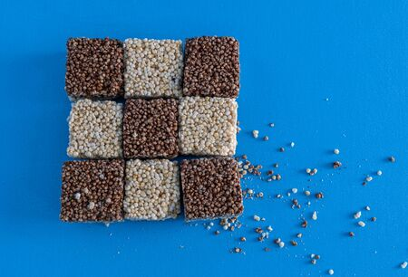 Amaranth Natural Seeds and Chocolate Bars, Mexican traditional candy.