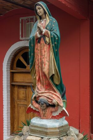 Virgin of Guadalupe, Homage Statue located in Sayulita Mexico.