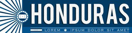 Honduras Patriotic banner vector illustration.