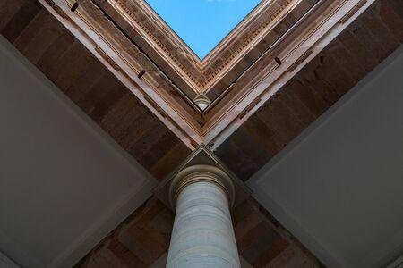 Capital of Columns in Guanajuato Mexico Building.