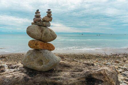 Apacheta Stone Mound in Sayulita Mexican Beach